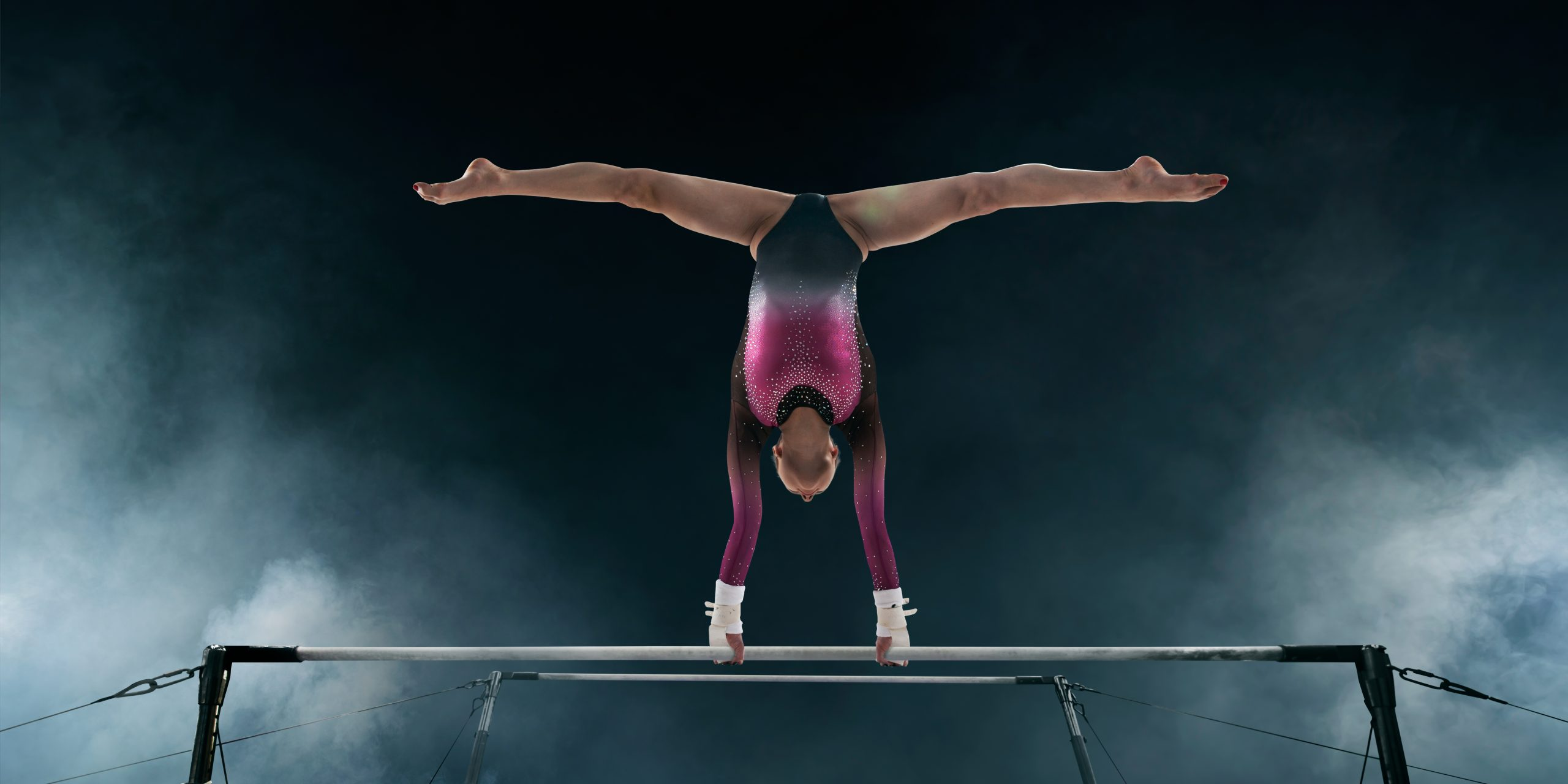 gymnast on gymnastics bar for home