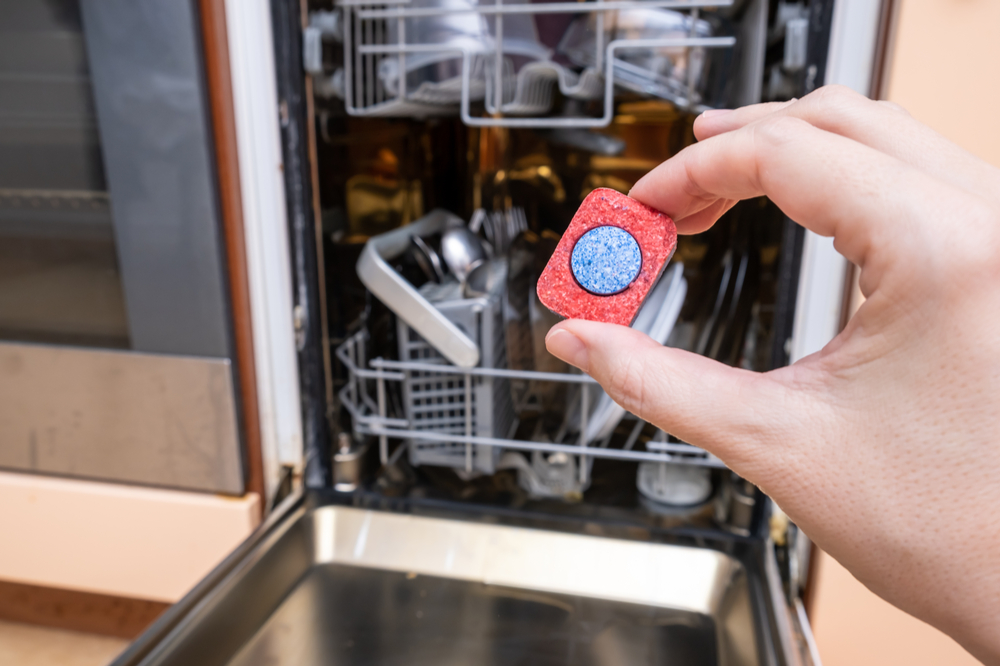 best dishwasher tablet in hand
