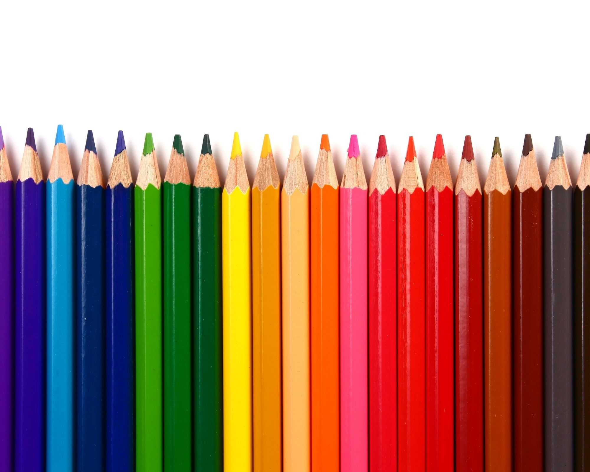 best colouring pencils in a row