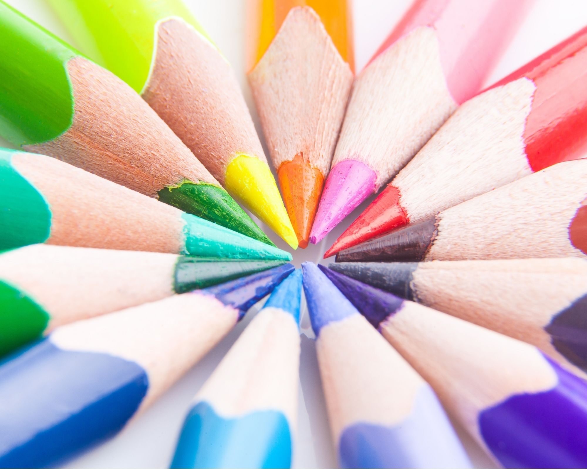 best colouring pencils in a circle