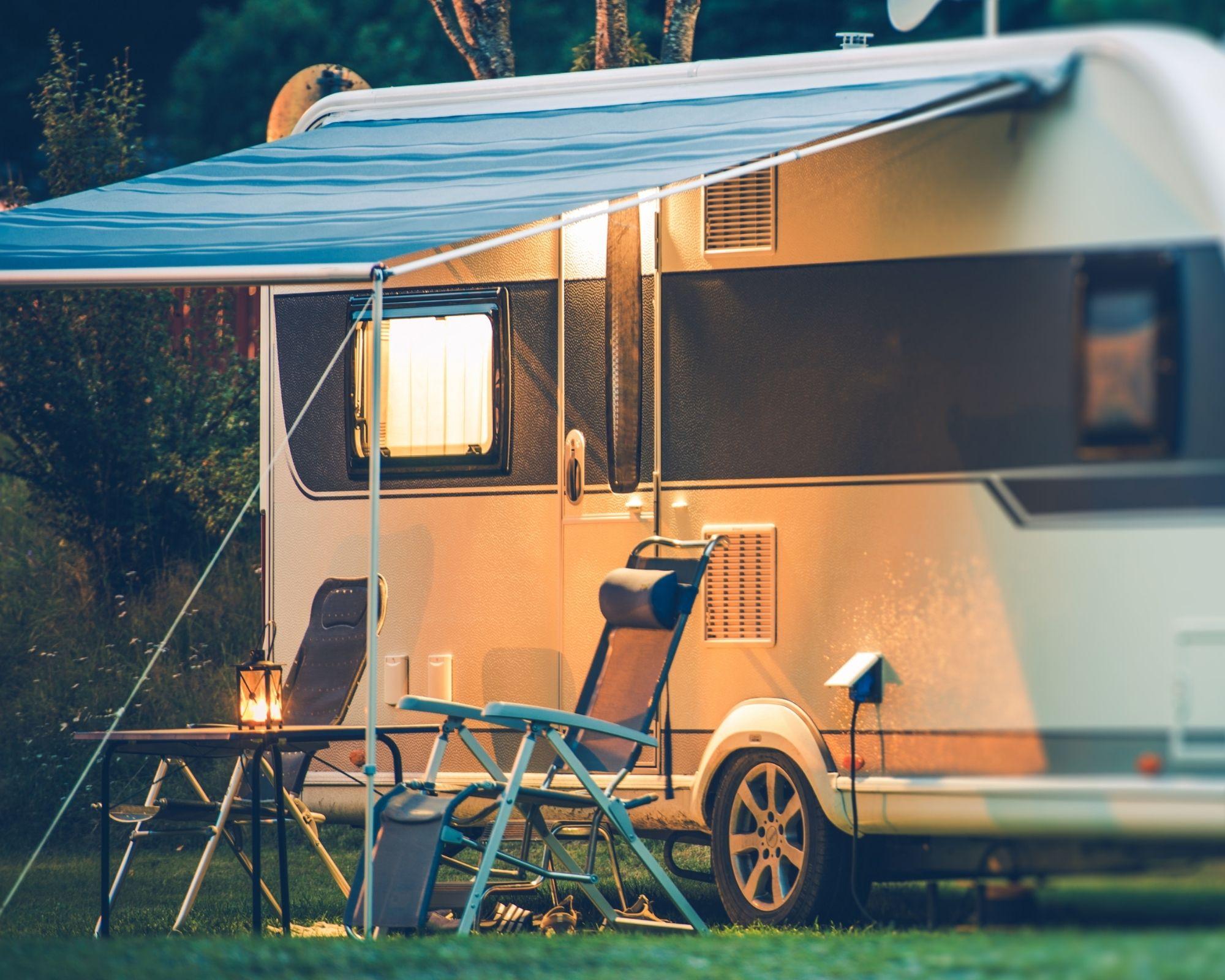 best leisure battery powering caravan at night