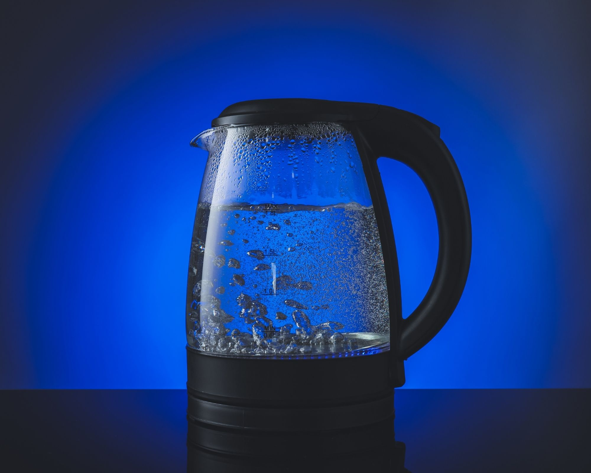 best kettle for hard water blue